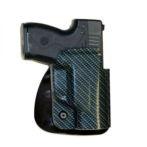 Beretta BU9 Nano ABS High Ride Belt and Left Hand Paddle Holster with Carbon Fiber Look