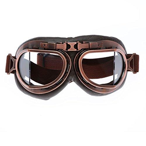 Helmet Steampunk Vintage Goggles Sunglasses Eyewear for Outdoor Sports Motocross Racer
