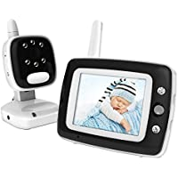 BESTHING Video Baby Monitor with LCD Display, Digital Camera, Infrared Night Vision, Two Way Talk Back, Temperature Monitoring, Lullabies, Long Range (black)