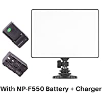 YONGNUO YN300 Air On Camera Led Video Light with 2500mAh Ulanzi NP-F550 Battery and Charger