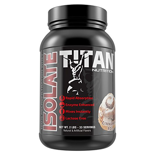 TITAN ISOLATE- 100% microfiltrated whey isolate (Cinnamon Roll)