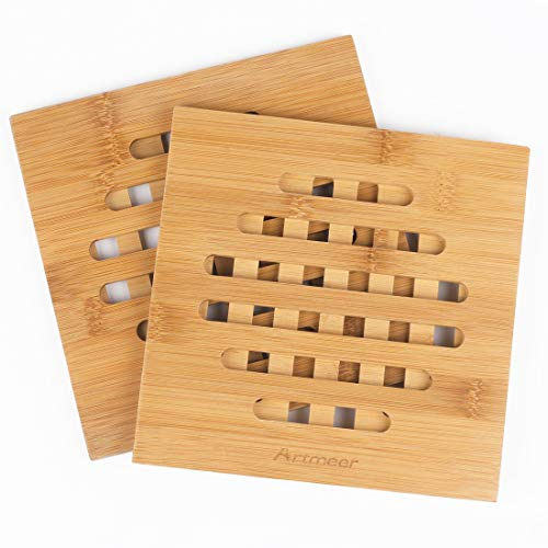 Trivet Mat Hot Pad Pot Holders,Spoon Rest Coasters in Kitchen Tool Heat Resistant Helps Protect Tabletops & Counters Set of 2