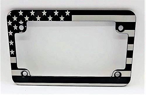 - BilletVault American Flag Motorcycle Billet Aluminum License Plate Frame-Black