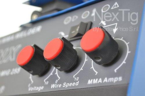 Soldadora inverter de hilo continuo NX Inverter Mig 255 250 Amper IGBT: Amazon.es: Hogar