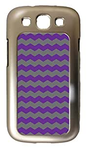 Blueberry Design Samsung Galaxy S3 i9300 Case Zigzag Wave Design Purple and Grey - Ideal Gift