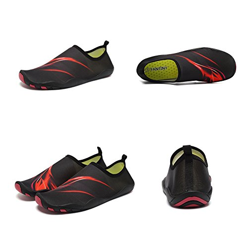 Water Barefoot Hy Boating Women Shoes CIOR Shoes Beach Shoes Walking Dry Men Swim Aqua Quick red Yoga Driving 4wdBYq