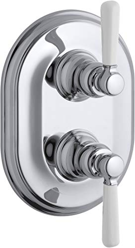 Kohler K-T10594-4P-CP Bancroft Stacked Thermostatic Valve Trim with Ceramic Lever Handle, Valve Not Included, Polished Chrome