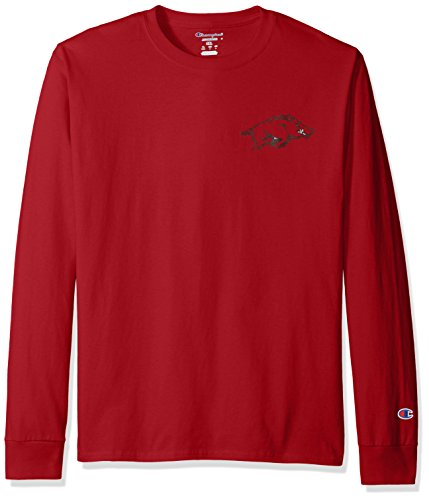 Arkansas Long Sleeve T-shirt - NCAA Arkansas Razorbacks Men's Champs Long Sleeve T-Shirt, Large, Cardinal