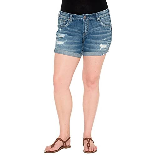 good Silver Jeans Co. Boyfriend Mid Short Medium Wash
