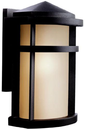 (Kichler 9167AZ Lantana Outdoor Wall 1-Light, Architectural Bronze)
