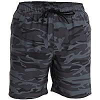 Men's Swim Trunks and Workout Shorts - Camouflage - Swimsuit Athletic Shorts - Adults Boys
