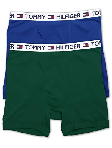 (Tommy Hilfiger Big & Tall 2-Pack Knit Boxer Briefs (2X, Royal Dark Green))
