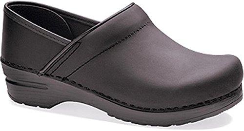 Professional Stapled Clog By Dansko Unisex Nursing Shoe Black Oiled Size 37 EU