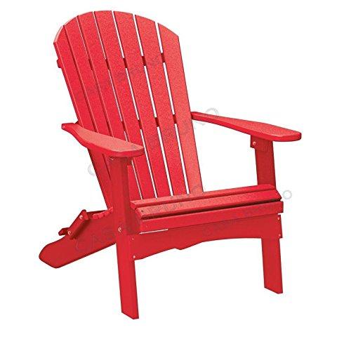 CASA BRUNO Original Oversized Alabama Adirondack Chair klappbar, aus recyceltem Polywood® HDPE Kunststoff, scharlachrot - kompromisslos wetterfest