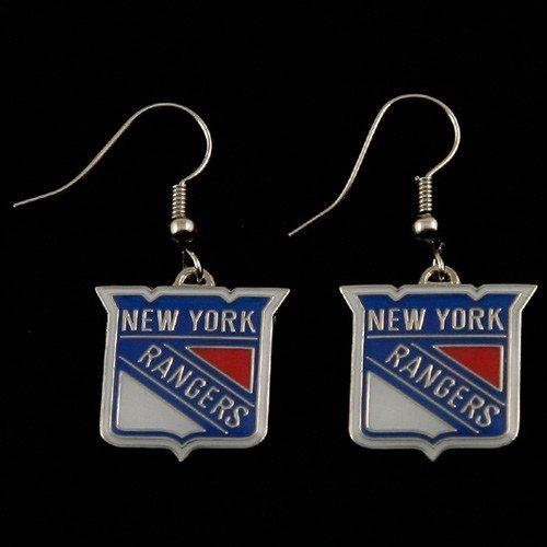 New York Rangers Charm (NHL New York Rangers Dangle Logo Earring Set Charm Gift)