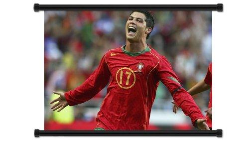 Cristiano Ronaldo Soccer Futbol Star Fabric Wall Scroll Poster (32
