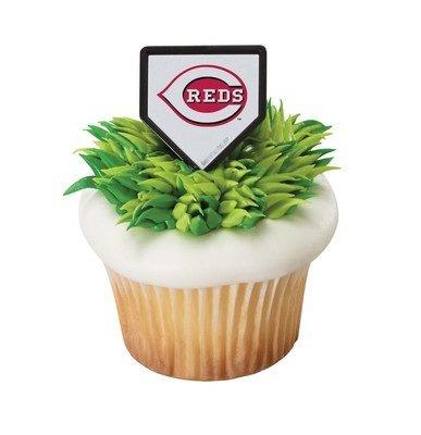 Cincinnati Reds Ring - MLB Cincinnati Reds Cupcake Rings - 24 ct