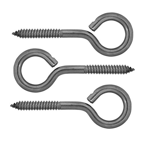 Lehigh Stainless Steel Screw Eyes, 3/8 x 4-7/8 inch, 3-Pack