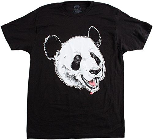 Giant Jolly Stoner Panda | Funny Party Bar Pot Marijuana Humor Unisex T-shirt