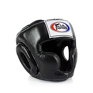 Well-Being-Matters 41RzyGlANYL._SS300_ Fairtex Headgear Head Guard Super Sparring HG3, HG10, HG13 Diagonal Vision for Muay Thai, Boxing, Kickboxing