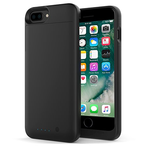 iPhone 7 Plus Battery Case - MoKo Maxnon Portable 4000mAh Rechargeable External Battery Backup Charger Charging Case Pack Power Bank Cover for iPhone 7 Plus/6s Plus/6 Plus [MFI Apple Certified] BLACK