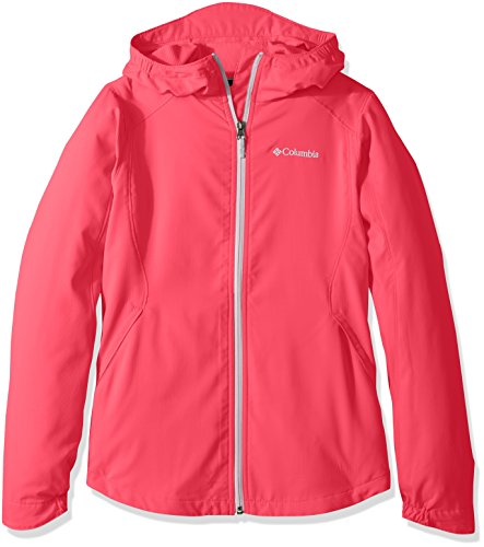 Columbia Big Girls' Splash Flash II Hooded Softshell Jacket, Punch Pink, M Hooded Girls Raincoat