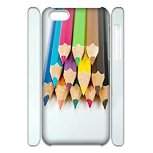 Design Fashion hard Case Colored Pencil For Apple Iphone 4/4S Case Cover