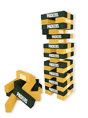 Wild Sports NFL Green Bay Packers Table Top Stackers Game