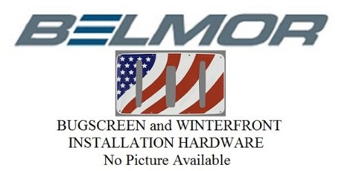 2003-2014 M2 110 Belmor 75791-1 Stainless Bug Screen and Winterfront Hardware Kit for 2003-2018 Freightliner M2 112