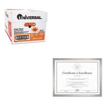 KITDAXN17002NUNV21200 - Value Kit - DAX MANUFACTURING INC. Value U-Channel Document Frame w/Certificates (DAXN17002N) and Universal Copy Paper (UNV21200)