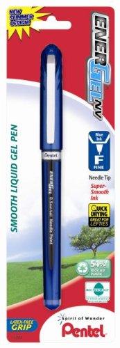 (Pentel EnerGel NV Liquid Gel Pen, 0.5mm, Needle Tip, Blue Ink, 1 Pack (BLN25BPC))