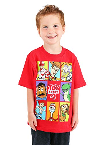 Pixar Little Boys Toy Story 4 Group Box T-Shirt, Red, 7