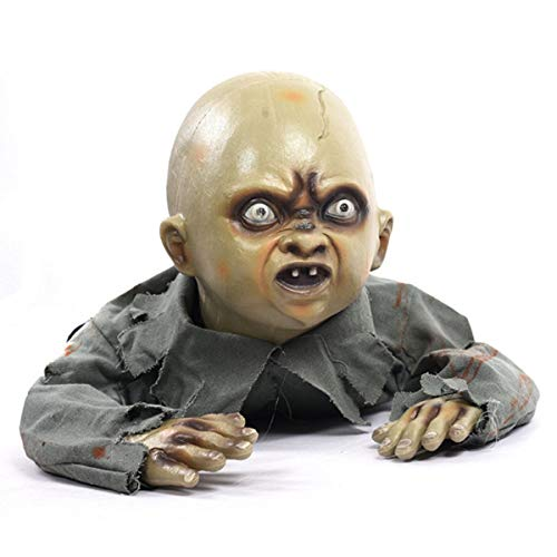 Lapha' Halloween Crawling Baby Zombie Prop Animated Horror Haunted House Party Decorations -