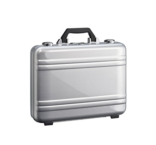Zero Halliburton 2.0 Large Classic Framed Polycarbonate Attaché Briefcase, Silver, One (Framed Briefcase)