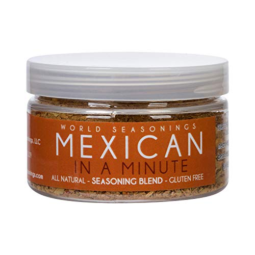 World Seasonings Mexican in a Minute Healthy Gluten Free Spice Mix 2.8 Oz