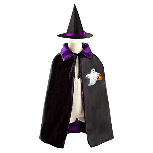 SeSHU Reversible Cloak and Hat in Halloween Fancy Ball with Ghost (Casper The Ghost Halloween Costume)