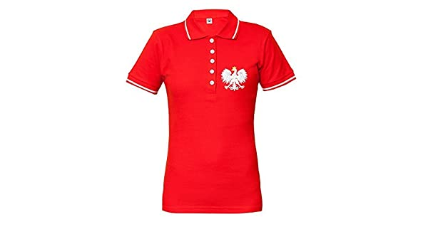 Rule Out Polo Camiseta Ropa para Fans Pulido Fútbol Equipo Polska. Polonia Supporter. Rojo if62w9x