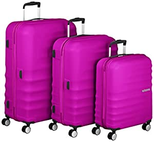 American Tourister Luggage Set, 77 cm, 96 Liters, Hot Lips Pink ...