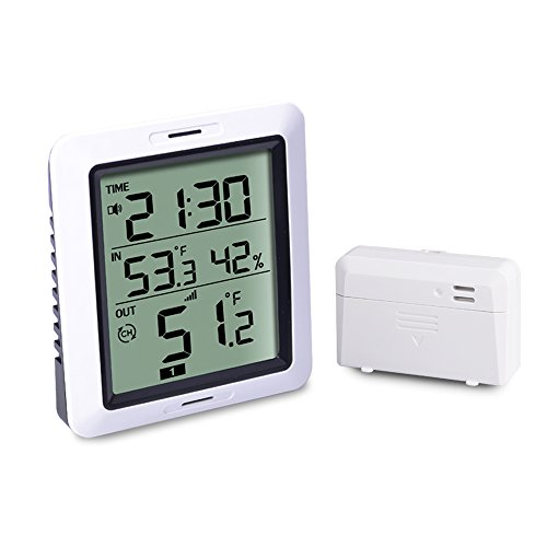 ECOWITT WH0280 Indoor Outdoor Thermometer Digital Hygrometer Temperature Humidity Monitor with Remote Temperature Sensor