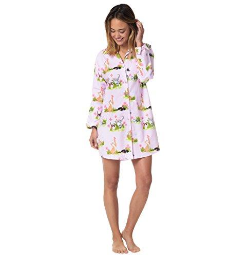 The Cat's Pajamas Frolicsome Felines Pink Women's Flannel...