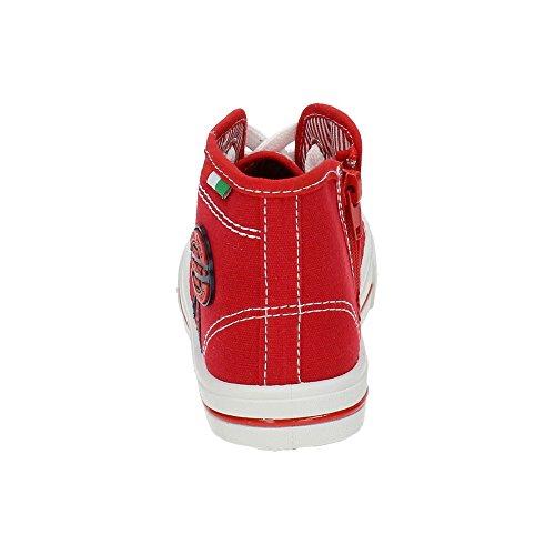 DEMAX 5-K2784-18 Botines Bambas Lona Niño Zapatillas Rojo