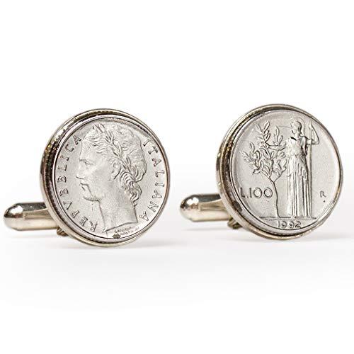 Tokens & Icons Italian Lire Sterling Silver Cufflinks (55IL)