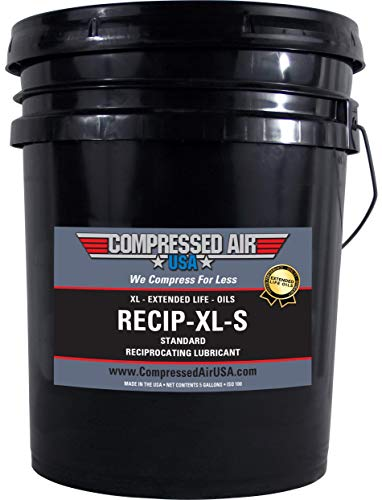 Standard 4000 Hour Reciprocating Air Compressor Lubricating Oil - CompressedAirUSA - XL - Extended Life Oils (5 Gallon)