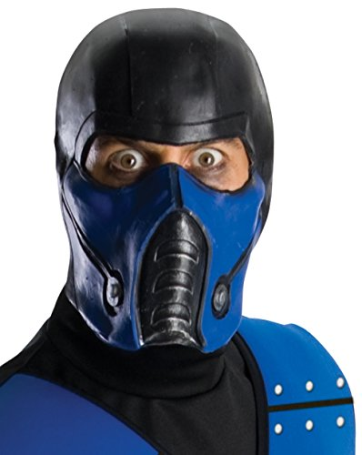 Mortal Kombat Deluxe Overhead Subzero Mask, Black, One (Scorpion Sub Zero Costumes)