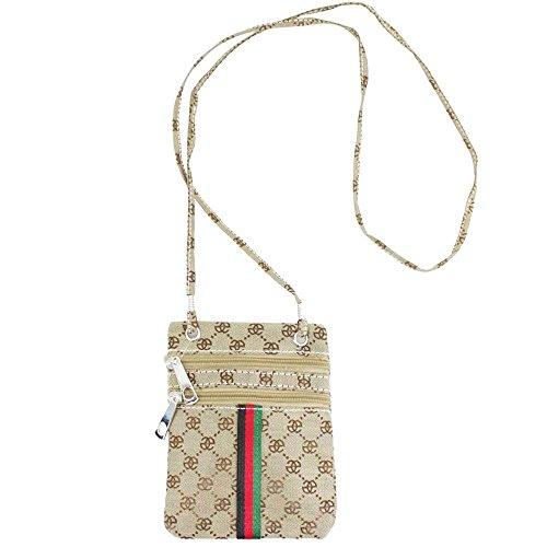Crossbody Beige Floral Haute Diva White Check Bag Ladies for Print Check vRwTIqxwY6
