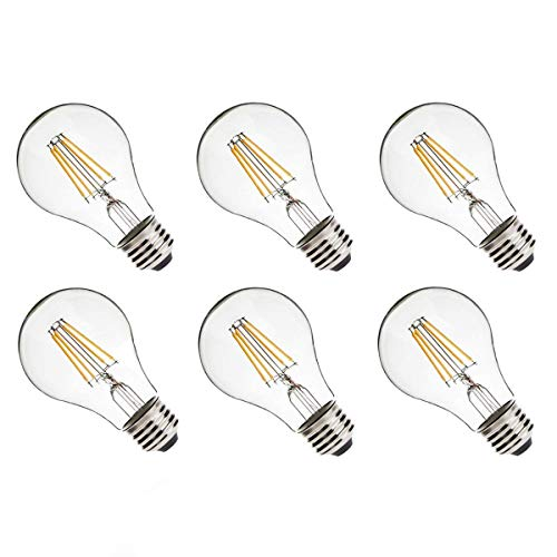 BESLAM Vintage Edison LED Light Bulbs Dimmable, A19 Type 2700K Warm White E26 Base 6.5W(60W Equiv.) LED Energy Saving Lamp Bulb, Set of 6 - - Amazon.com