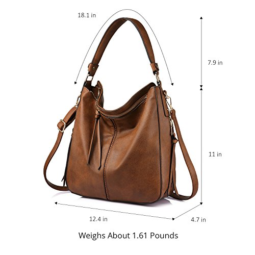 Women for Large Shoulder brown Crossbody Small Bag Tassel Bags Ladies with OqEcFp