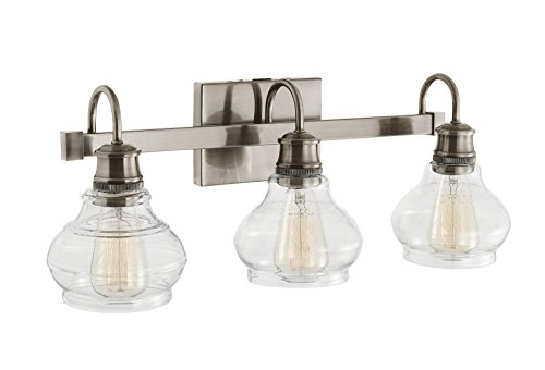 Pewter Antique Lighting (Kichler 48107CLP Schoolhouse 3-Light Bath Bar, Classic Pewter)