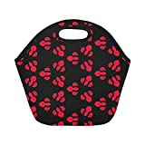 Best Fit & Fresh Beach Coolers - Insulated Neoprene Lunch Bag Butterfly Pattern Black Large Review