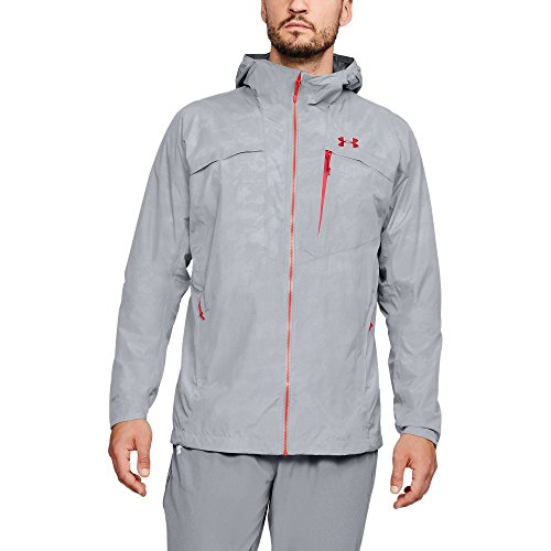 (Under Armour Outerwear Men's Pertex 2.5l Shell Hoodie, Overcast Gray/Pierce, X-Large)